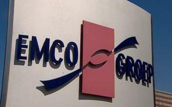 Zuil met logo EMCO-groep